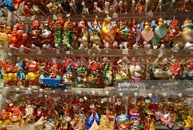glass ornaments for sale at a market in leipzig germany