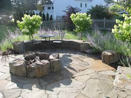 Flagstone Firepit Pits Landscape Traditional With Flagstone Pit And