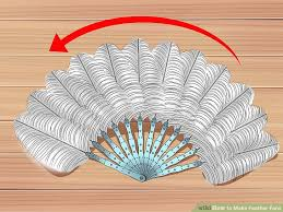 feather fans how to make feather fans with pictures wikihow
