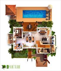 top view 3d virtual floor plan design floor plans pinterest