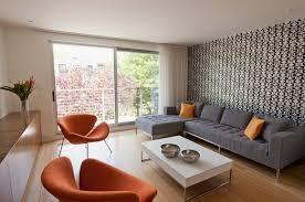salon sans canapé design interieur salon blanc noir canapé angle gris fauteuils