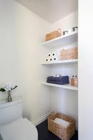 Contemporary Bathroom Shelves Bath Nook With Stacked Floating Shelves Contemporary Bathroom