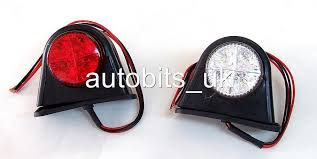 12 volt red led lights 2 x side marker outline led light lamp white red 12 24 volt trailer