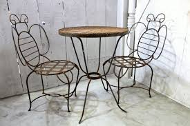 Iron Wrought Patio Furniture by Wrought Iron Bumblebee Chair Metal Seating Patio Furniture