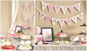 baby shower decorations for a girl girl pumpkin baby shower party ideas