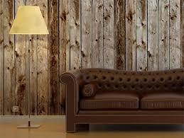 wood panel wallpaper mural wooden effect plank planks brown rustic