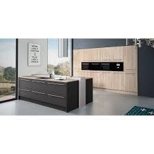 cuisine facade bois cuisine à monter soi même facade bois et laque taupe avec ilot central