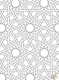 islamic ornament mosaic coloring page coloring home