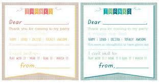 kids birthday thank you cards u2013 gangcraft net
