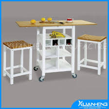 white mdf table top china white classical mdf kitchen trolley with solid bamboo table