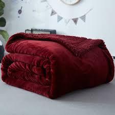 sofa 2m shop wine fleece blanket on the bed sofa 1 1 5 2m size