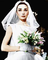 photos of audrey hepburn u0027s 3 wedding dresses brides