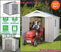 Keter Storage Shelves Large Keter Plastic Shed 8 X 11ft Garden Garage Storage Workshop