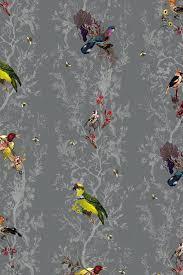 dramatic wallpaper timorous beasties wallcoverings birds n bees wallpaper