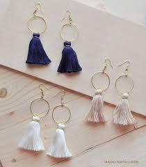 earrings diy diy hoop tassel earrings made in a day