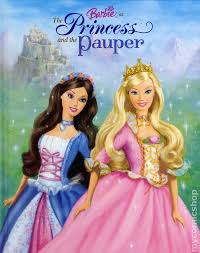 barbie princess pauper hc 2004 golden books