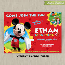 mickey mouse invitation template best template collectionmickey