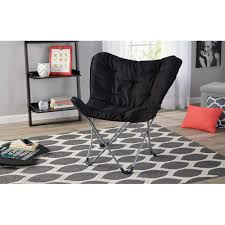 Folding Living Room Chair Mainstays Microsuede Butterfly Chair Available In