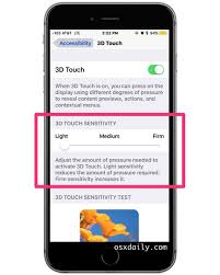 Light On Iphone How To Change 3d Touch Pressure Sensitivity On Iphone