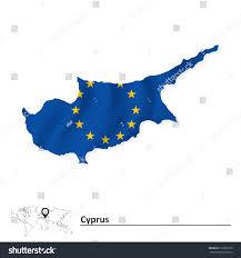 Map Of Cyprus Map Cyprus European Union Flag Vector Stock Vector 310660163