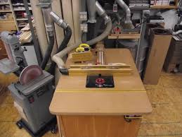 router table dust collection router table recommendations