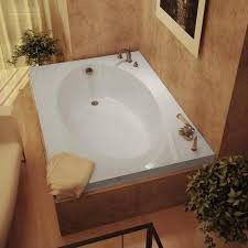 Soaker Bathtubs Vogue 60 X 42 White Soaker Tub Free Shipping Today Overstock