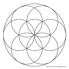 sacred geometry coloring page seed coloring pages