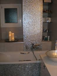 wondrous green mosaic tiles bathroom wall combined with white best