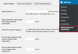 Sticky Top Bar How To Create A Sticky Floating Navigation Menu In Wordpress