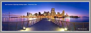 san francisco cityscape holiday lights panoramic view flickr
