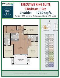 Huge Floor Plans 3 Bedroom Den Plans Yorkson Downs