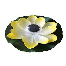 Solar Lights For Pool by Solar 7 Color Changing Led Floating Light Lotus Lamp For Garden