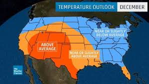us weather map today temperature fall early winter temperature outlook warmer than average for