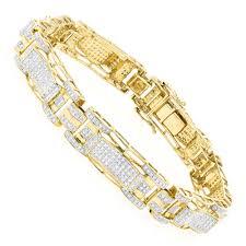 gold bracelet diamonds images 10k gold mens diamond bracelet 3 27ct jpg