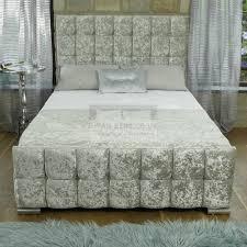 Crushed Velvet Fabric Upholstery Marla Crushed Velvet Fabric Upholstered Bed Frame Guaranteed