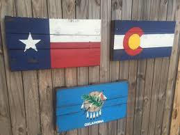 oklahoma wood oklahoma state flag recycled pallet sign reclaimed wood