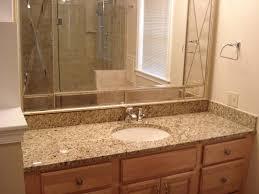Beveled Bathroom Mirror by Beveled Glass Bathroom Mirrors Home Design Ideas