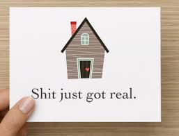 New Home Meme - items similar to sh just got real new home card on etsy