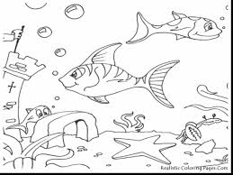 extraordinary ocean animals coloring pages with ocean coloring