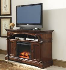 alymere large tv stand w fireplace option by ashley home