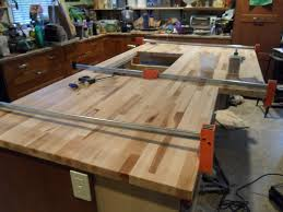 custom kitchen island ideas unfinished cherry wood custom diy butcher block countertops for