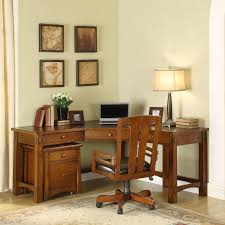 Wood Corner Desks For Home Riverside Craftsman Home Corner Desk Hayneedle