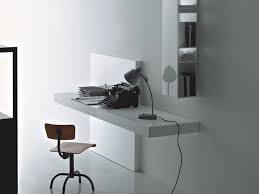 contemporary secretary desk wooden lacquered wood wall