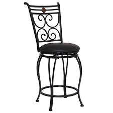counter height swivel bar stools with backs furniture black metal counter height bar stool with leather