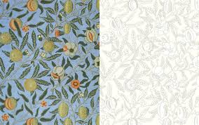 William Morris Wallpaper by William Morris An Arts U0026 Crafts Colouring Book Victoria And