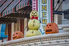 photos halloween decorations appear on main street usa blog mickey