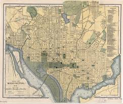 Old United States Map by Large Detailed Old Map Of Washington D C With Other Marks 1893