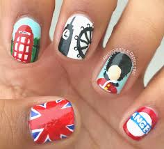 British Flag Nails Nail Doodlers London Nails With Your Tea Sir