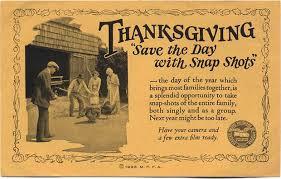 a slightly morbid 1926 ad encouraging to snap thanksgiving photos