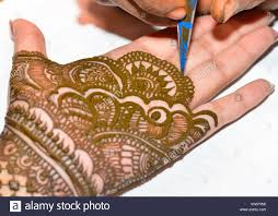 hand decorated with henna stock photos u0026 hand decorated with henna